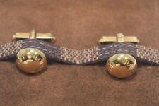 Louis Vuitton Vermeil 925 Sterling Silver Button Cufflinks With Damier/Case CLD1