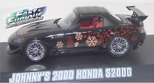 Greenight ~ Fast and Furious Johnny's Black 2000 Honda S2000(86205)