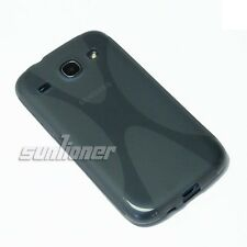 For Samsung Galaxy Core, i8260 i8262 Gray TPU Gel Case Cover Skin