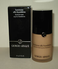 GIORGIO ARMANI LUMINOUS SILK FOUNDATION  # 2 NIB