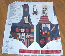 Cranston Vip Cotton Fabric Panel Vest Back to School Adult sz