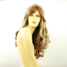 Perruque femme longue blond foncé méché blond clair ZARA F27613