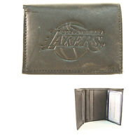 Brand New NBA Team Black Tri-Fold Leather Wallet / Assorted Teams