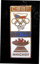 1972 Munich Summer Olympic Games Czechoslovakia NOC Internal team delegatin pin