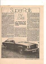 ORIGINAL VINTAGE 1975 ROLLS ROYCE CAMARGUE & BMW 3.3L AUSTRALIAN FEATURES