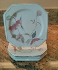 Mikasa Continental ~6 Salad Plates ~ Silk Flowers ~Calla Lilly