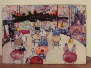 NEW YORK CITY COFFEE SHOP MINIATURE DESK ART OR WALL AFFORDABLE ART