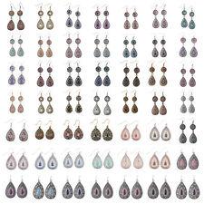 Bohemian Boho Multicolor Bead Resin Flower Waterdrop Women Dangle Earrings Gift