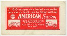 c1930 American Spring ad blotter for any car or truck