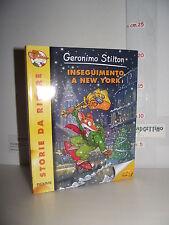 LIBRO Geronimo Stilton INSEGUIMENTO A NEW YORK 1^ed.2011 Storie da ridere☺