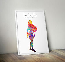 Pocahontas, print, poster, disney, quote, wall art, gift, inspirational, picture