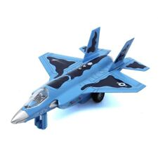 F35 Aircraft 1:32 Scale Air Force Diecast Metal 15cm Plane Blue Boy Military Toy