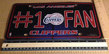 CLIPPERS #1 FAN LICENSE PLATE