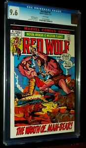 RED WOLF #4 1972 Marvel Comics CGC 9.6 NM+ White Pages