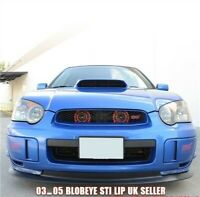Subaru Impreza Blobeye Splitter Front Lip Spoiler 03-05 STi V Limited Black   PP