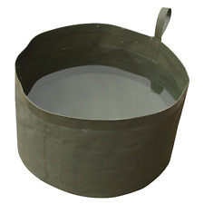 WEB-TEX COLLAPSIBLE WATER BOWL – compact travel camping army olive green camo