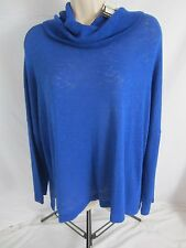Premise Turtle Neck Lightweight Top Blouse Shirt - Blue - Women's M - 1180 - New