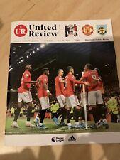Manchester United Vs Burnley Match Programme 22/1/20 Premier League