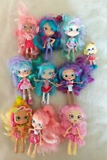 """Lot of Shopkins Shoppies 5"""" Dolls by Moose, teal, cotton candy, lemonade, +++"""