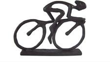 Cyclist Metal Statue