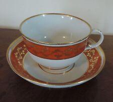 Extra Large Antique 18th c. Worcester Flight Barr Porcelain Tea Cup & Saucer
