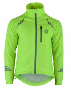 Unisex Cycling Jacket Waterproof Outwear Hi-Viz Running Bicycle  Jacket S-XXL