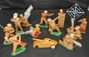 """Vintage Barclay Manoil Lead Toy Soldier 3.5"""" Figure LOT - 12 PCS. - Estate Fresh"""