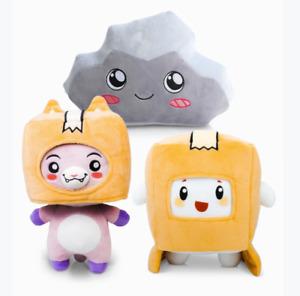 Lankybox BOXY + FOXY + ROCKY  Plush Soft Stuffed Toy Doll Game Figure Plushie