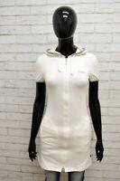 Felpa Lunga STEFANEL Donna Taglia XS Maglione Maglia Sweater Shirt Woman Bianco