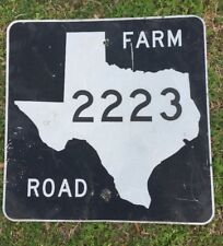 Old Authentic Retired TEXAS 2223 SIGN Highway Oil Gas (24X24) Lone Star