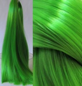 LUCKY Green Nylon Hair for Doll Rerooting/Wigmaking Crissy Monster High OOAK etc