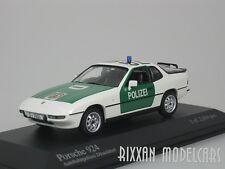PORSCHE 924 1984 AUTOBAHN POLIZEI DÜSSELDORF WEISS 1/43 MINICHAMPS 400062190 NEU