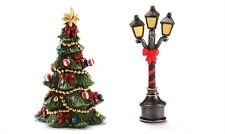 FAIRY GARDEN Christmas Miniature ~ Mini Lamp Post And Xmas Tree ~ Mini Dollhouse
