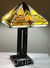 "Tiffany Style Stained Glass Mission Lamp ""Taliesin"" - FREE SHIP IN USA"