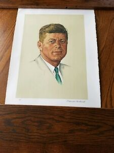 Artist Proof Norman Rockwell John F. Kennedy A/P Signed RARE