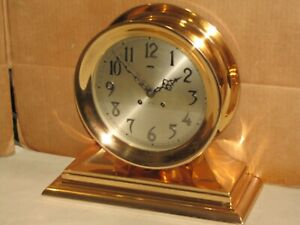 CHELSEA ANTIQUE SHIPS BELL CLOCK~ADMIRAL MODEL~8 1/2 IN DIAL~1947~RESTORED