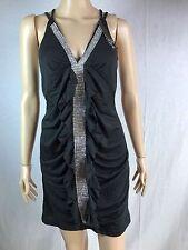 LadiesJewls V Neck Short Summer Dress Beach Black Boho Sun Dress Women