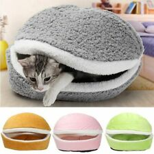 Cat Sleeping House Removable Mat Dog House Plush Puppy Kitten Nest Soft Cushion