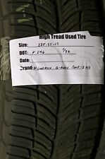 (1) 225/55-17 Bfgoodrich Sport Comp 2 Used High Tread Tire 225 55 17 7/32Nds