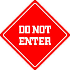 "*Aluminum* Do Not Enter Funny Metal Novelty Sign 12""x12"""