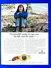 1996 Rolex Picabo Street You The Hill The Clock Original Print Ad 8.5 x 11""
