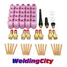 "58-pcs TIG Welding Torch 17/18/26 Kit Gas Lens Setup 040""~1/8"" TAK21 | US Seller"