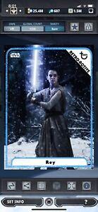 Topps Star Wars Digital Card Trader Blue Retro-Active Rey Insert Award