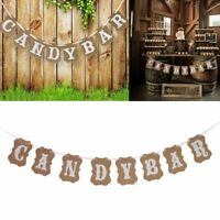 Fashion Party Decoration Supplies Candy Bar Kraft Paper Cardboard Bunting Banner