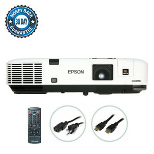Epson PowerLite 1915 3LCD Projector 4000 lumens Wireless HD 1080i HDMI bundle