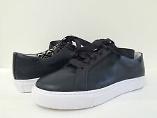 New Tory Burch Women's Lace Up Leather Upper/Lining Sneakers Black Tori Sz 8M