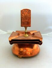 ART NOUVEAU smoking set copper brass, antique jugendstyl ashtray