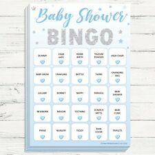 20 Players Blue//Boy Baby Shower Bingo Perfect Party Game!