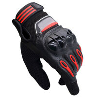 Unisex All Weather Leather Motorbike Motor cycle Gloves Knuckle Protection