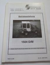 Weidemann Hoflader 1504 D / M Betriebsanleitung